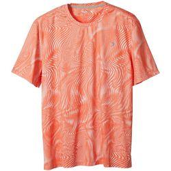 Reel Legends Mens Reel-Tec Wave Refraction Print T-Shirt