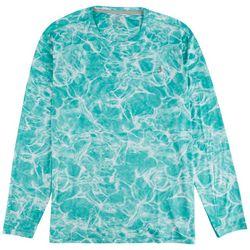 Reel Legends Mens Reel-Tec Water Print Long Sleeve T-Shirt