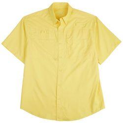 Reel Legends Mens Saltwater II Solid Short Sleeve Shirt