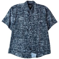 Reel Legends Mens Saltwater II Crackle Short Sleeve Shirt