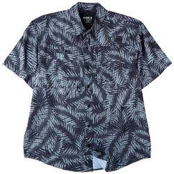 Reel Legends Mens Saltwater II Palm Frond Short Sleeve Shirt