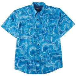 Reel Legends Mens Saltwater II Wave Short Sleeve Shirt