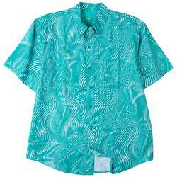 Reel Legends Mens Saltwater II Wave Form Short Sleeve Shirt