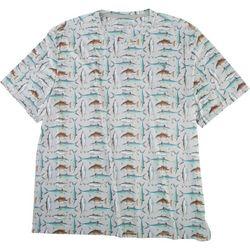 Reel Legends Mens Reel-Tec All Over Fish T-Shirt
