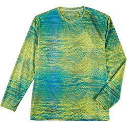 Reel Legends Mens Reel-Tec Swirl Print Long Sleeve T-Shirt