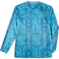 Reel Legends Mens Reel-Tec Gritty Scales Long Sleeve T-Shirt