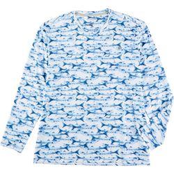 Reel Legends Mens Keep It Cool Barracuda Long Sleeve T-Shirt