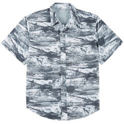 Reel Legends Mens Mariner II Splashline Short Sleeve Shirt