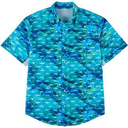 Reel Legends Mens Mariner II Choppy Water Short Sleeve Shirt