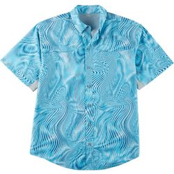 Reel Legends Mens Mariner II Optic Swirl Short Sleeve Shirt