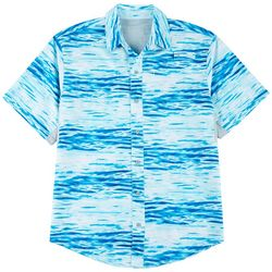 Reel Legends Mens Mariner II Waterlines Short Sleeve Shirt