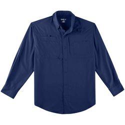Mens Saltwater II Solid Long Sleeve Shirt
