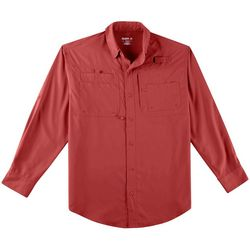Mens Saltwater II Solid Long Sleeve Shirt