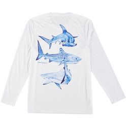 Reel Legends Mens Long Sleeve Reel-Tec Shark T-Shirt