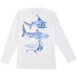 Reel Legends Mens Long Sleeve Reel-Tec Shark T-Shirt