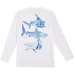 Mens Long Sleeve Reel-Tec Shark T-Shirt