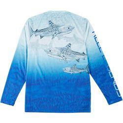 Reel Legends Mens Reel-Tec Long Sleeve Tigres T-shirt