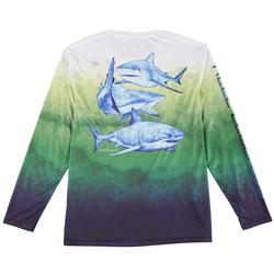 Mens Reel-Tec Shark Summer Long Sleeve  T-Shirt
