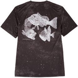 Reel Legends Mens Reel-Tec Scale Print Performance T-Shirt