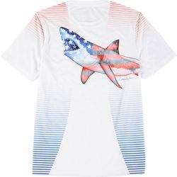Reel Legends Mens Reel-Tec Americana Shark T-Shirt