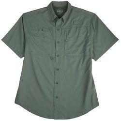 Reel Legends Mens Saltwater Quick Dry UPF Short Sleeve Shirt