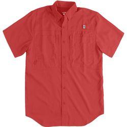 Reel Legends Mens Saltwater II Short Sleeve Fishing Shirt