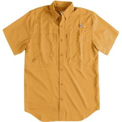Reel Legends Mens Saltwater II Solid Short Sleeve Shirt
