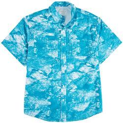 Mens Swimming Fishes Short Sleeve Shirt
