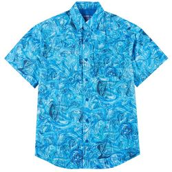 Reel Legends Mens Short Sleeve Saltwater Underwater Shirt