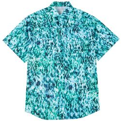 Reel Legends Mens Short Sleeve Saltwater Miami Netting Shirt