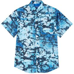 Reel Legends Mens Short Sleeve Saltwater Granite Shirt