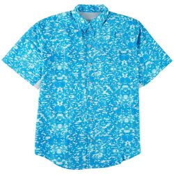 Reel Legends Mens Printed Short Sleeve Shirt