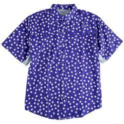 Reel Legends Mens Americana Fishing Short Sleeve Shirt
