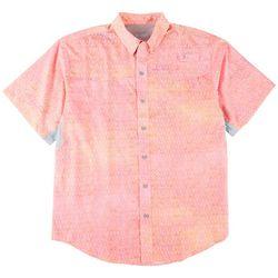 Reel Legends Mens Print Short Sleeve Shirt