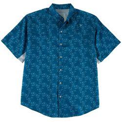 Reel Legends Mens Fish Print Short Sleeve Shirt