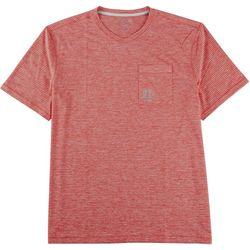 Reel Legends Mens Freeline Angler  V-Neck Pocket T-Shirt