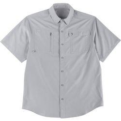 Reel Legends Mens Ultra Repel Woven Short Sleeve Shirt