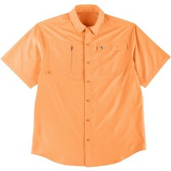Reel Legends Mens Ultra Repel Woven Short Sleeve Shirt