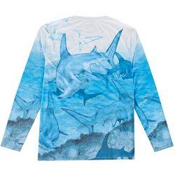 Reel Legends Mens Reel-Tec Hammerhead  T-Shirt
