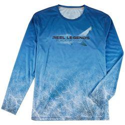 Reel Legends Mens Reel-Tec Shark Long Sleeve T-Shirt
