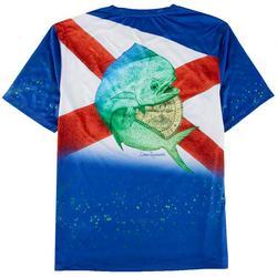 Mens Reel-Tec Florida Flag Mahi T-Shirt