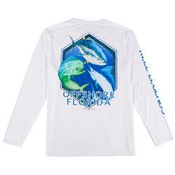 Reel Legends Mens Reel-Tec Offshore Florida  T-Shirt