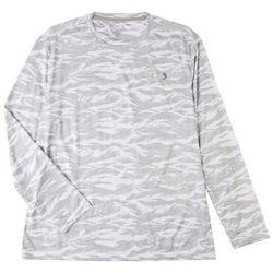 Reel Legends Mens Reel-Tec Camo Wave Long Sleeve T-Shirt