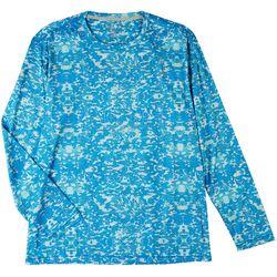 Reel Legends Mens Reel-Tec Globe Camo Long Sleeve T-Shirt