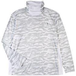 Reel Legends Mens Print Long Sleeve Shirt With Hoodie