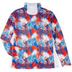 Reel Legends Mens Printed Long Sleeve T-Shirt With Hoodie