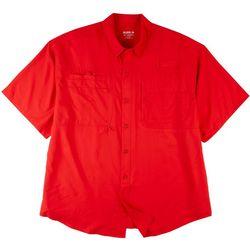 Reel Legends Mens  Big & Tall Saltwater Solid Colors Shirt