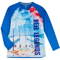Reel Legends Mens Reel-Tec Americana Long Sleeve T-Shirt