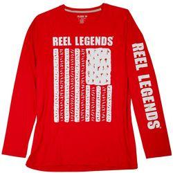 Reel Legends Mens Reel-Tec Flag Lure Long Sleeve T-Shirt