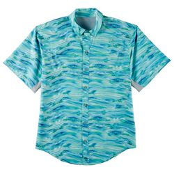 Reel Legends Mens Mariner II Waterline Short Sleeve Shirt